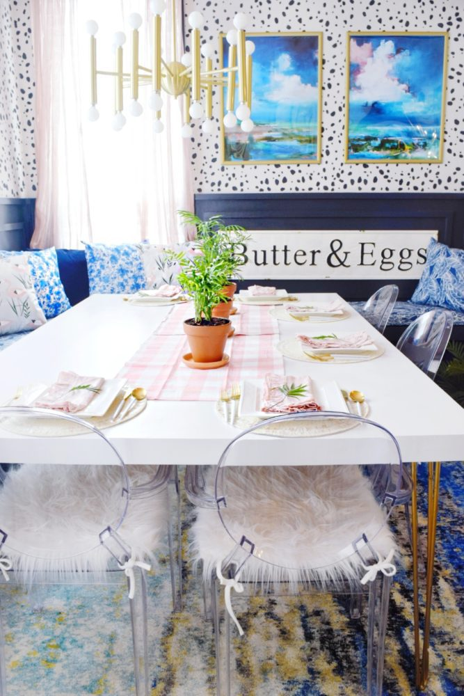 colorful modern coastal breakfast nook spring table setting ideas to freshen up your home