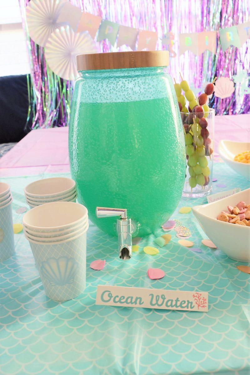 Ocean Water Drink Recipe for Mermaid Themed Birthday Party