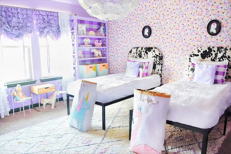 caitlin wilson peony wallpaper ikea flower chandelier little girls bedroom decor