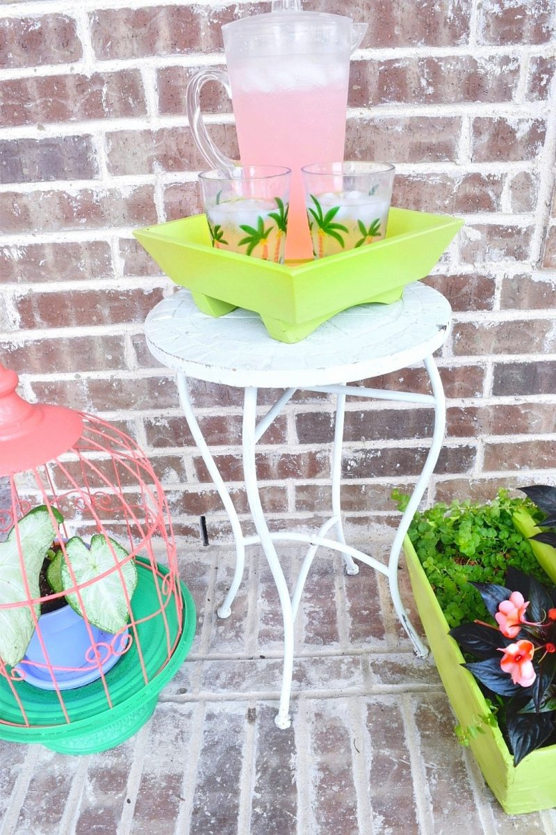 front porch planters and colorful decor