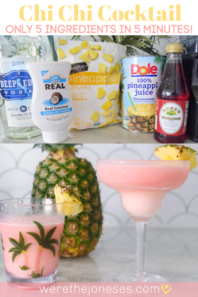 Chi Chi frozen island drink cocktail 5 ingredients in 5 minutes!