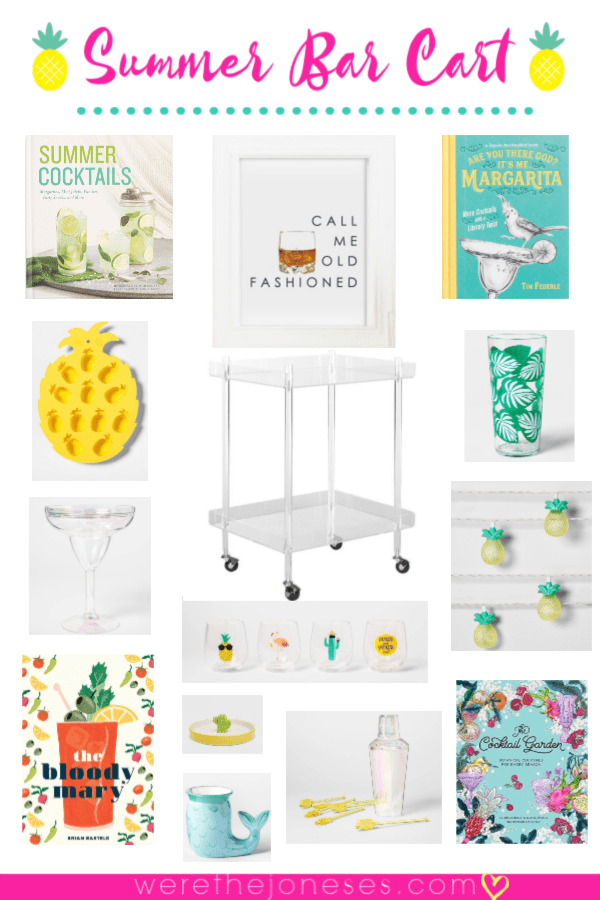 Summer Bar Cart Styling and Decorating Ideas