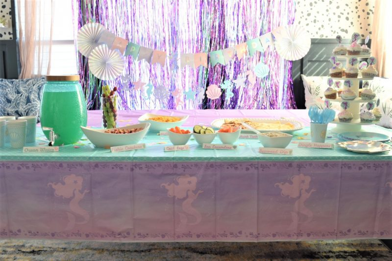under the sea birthday decorations for mermaid birthday party