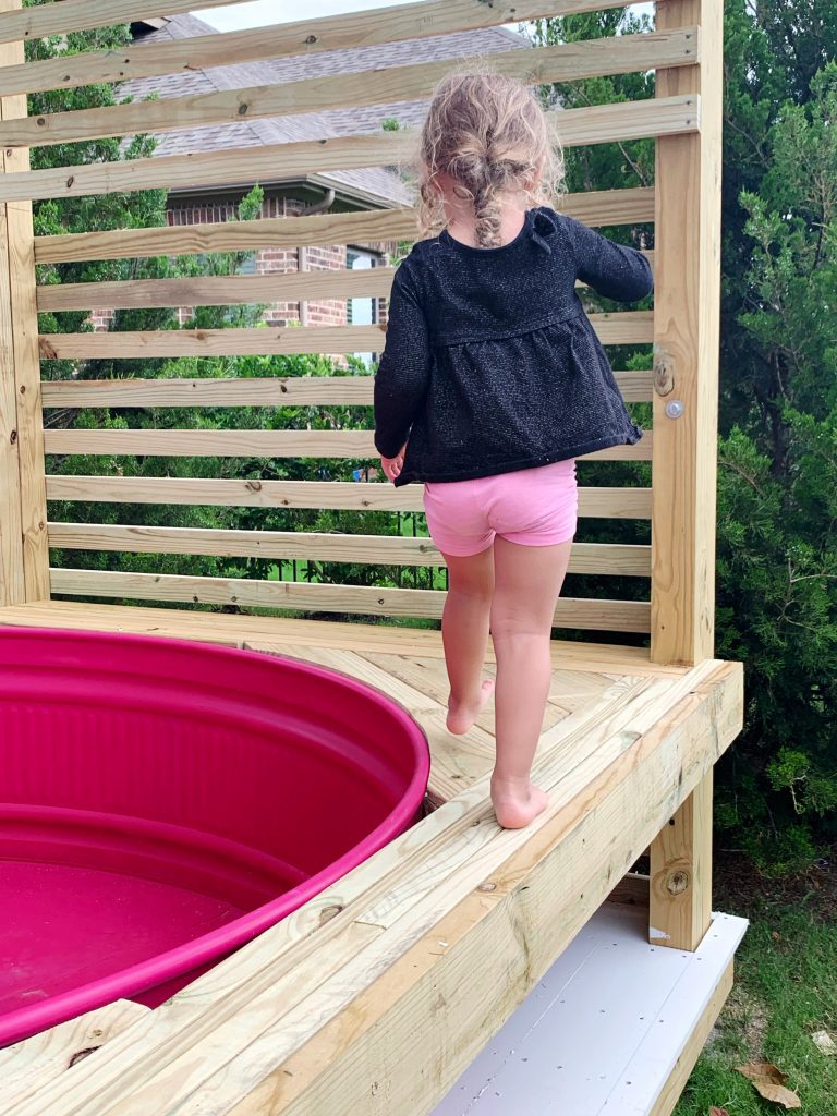 Pink Stock Tank Pool and Deck Reveal! Spray Painted our Pool Pink = Best Decision Ever!