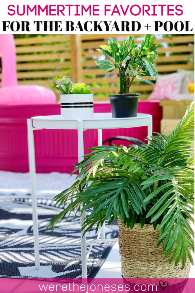 Summertime Favorites For the Backyard Deck and Pool - We love these afforable accessories for our stock tank pool!