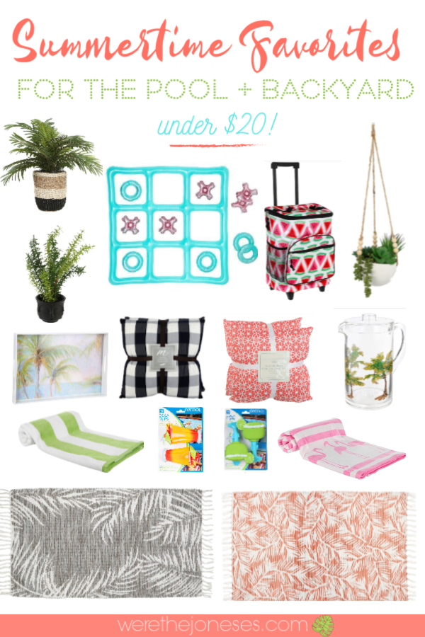 Favorite Summer decor accents and Summer essentials for the Pool and Backyard