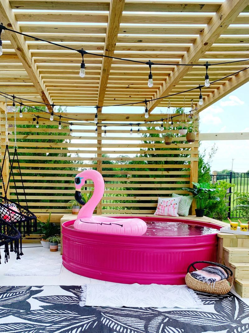best stock tank pool ideas that keep you cool in the summer