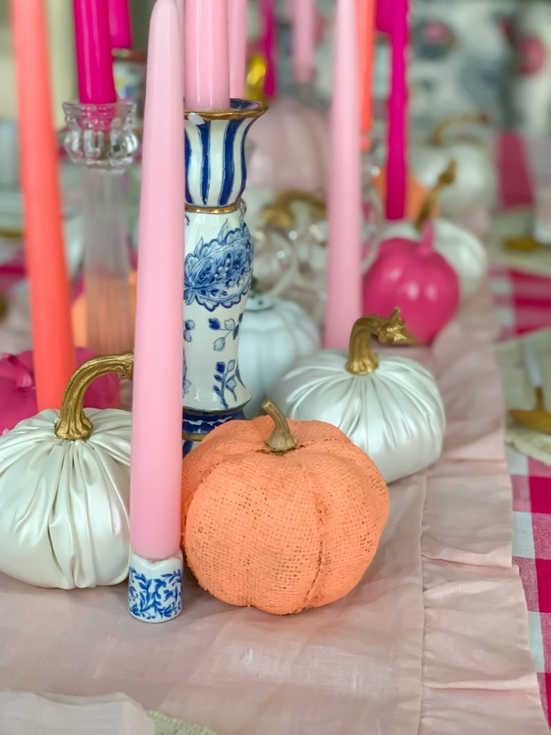 candle centerpieces for tables pink fall decor ideas for a beautiful fall tablescape