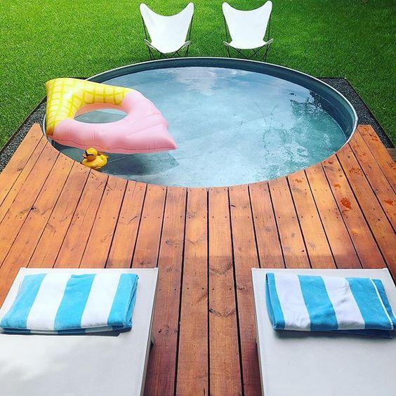 Stoneways Swim Club DIY deck and stock tank pool swimming pool design
