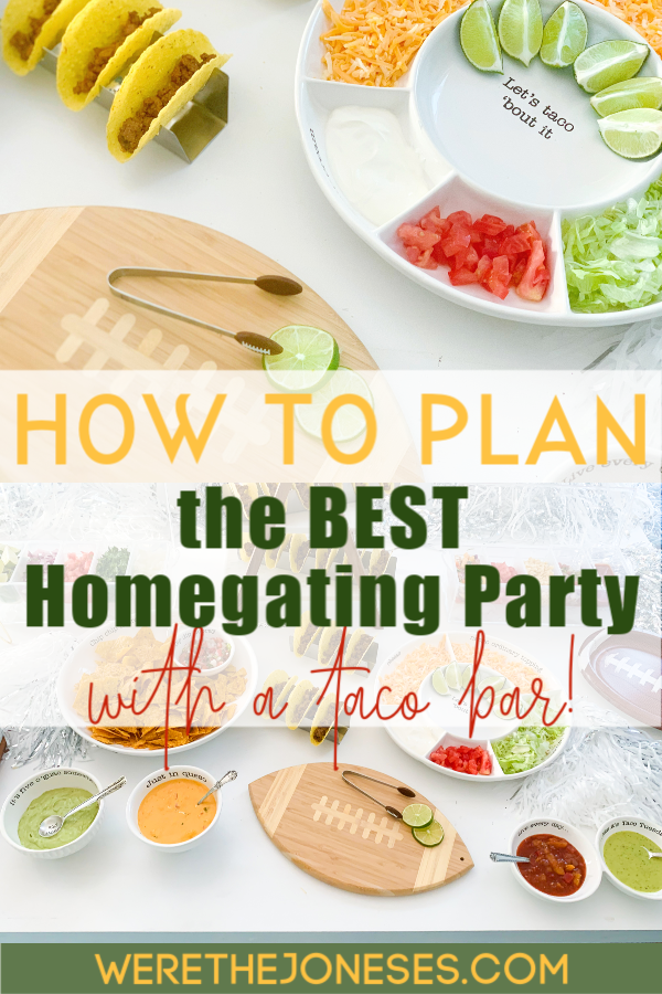 plan the BEST homegating party with these game day party tips