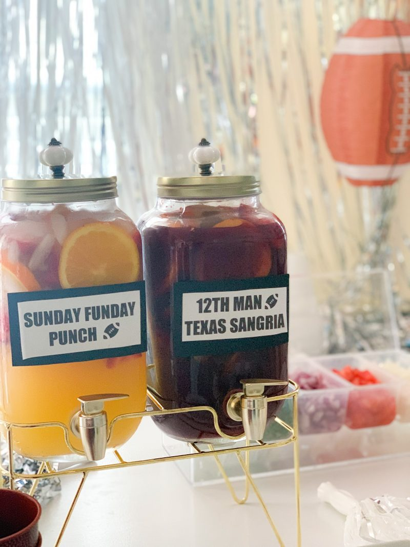 football themed cocktails game day drink recipes easy sangria recipe for a crowd for homegating football parties