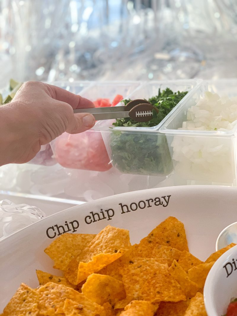 taco topping for taco bar homegating party