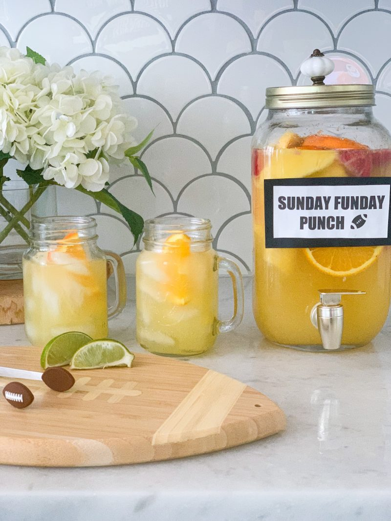 sunday game day drink for football party or tailgate