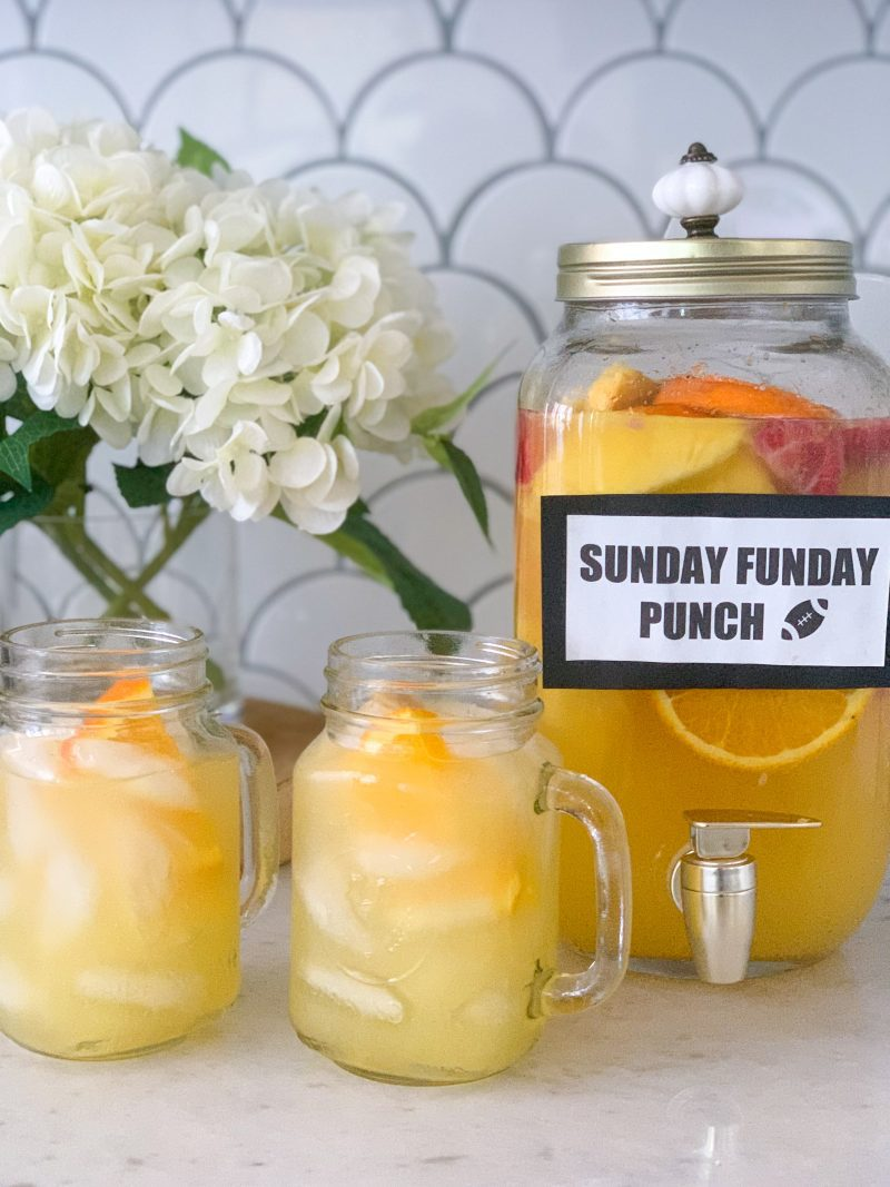 sunday funday cocktail brunch punch recipe for football party