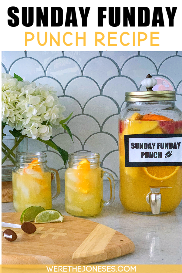 big batch punch recipe for sunday funday!