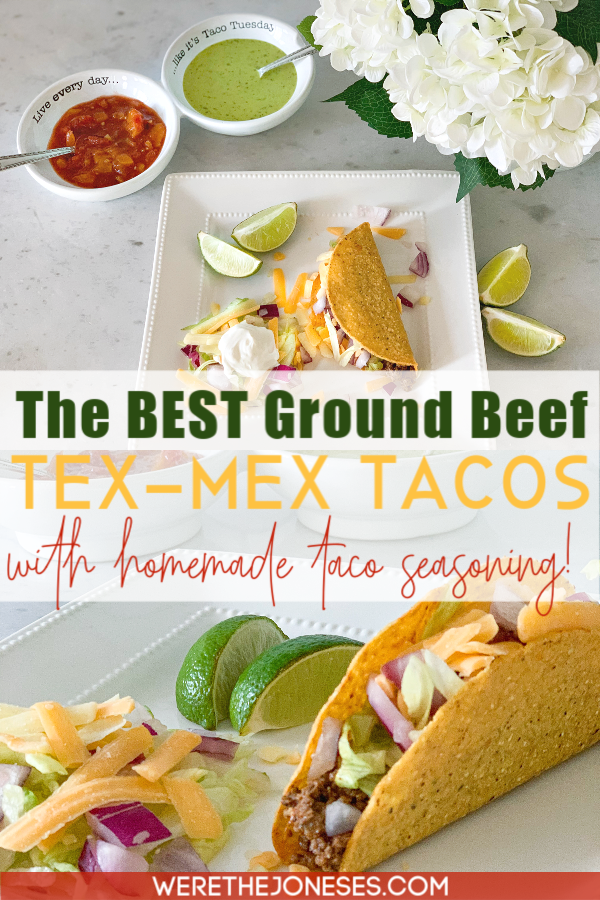 ground beef tacos with homemade taco seasoning recipe