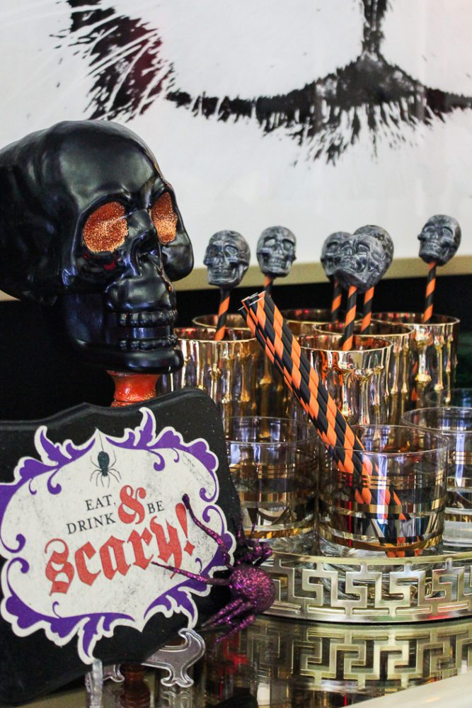 halloween skull stirrer sticks diy