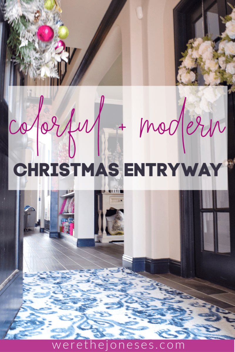 christmas decor entryway