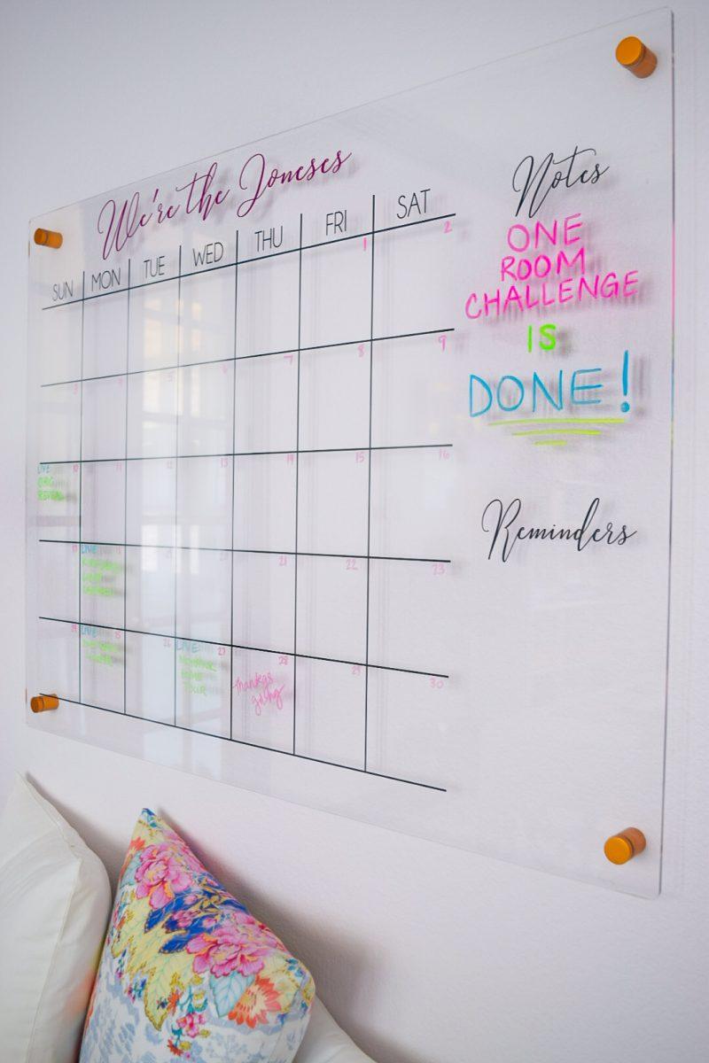 acryllic calendar for home office