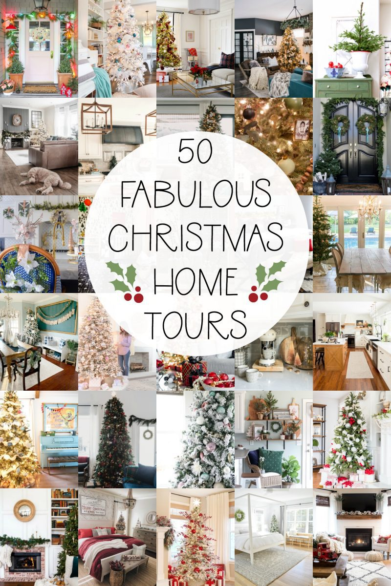 50 christmas home tours decorated for the holidays