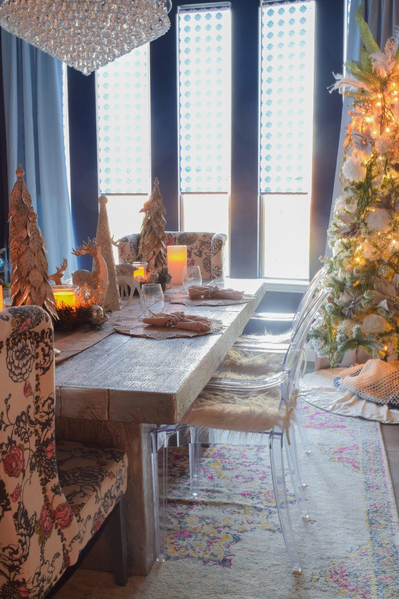 modern dining room holiday decor