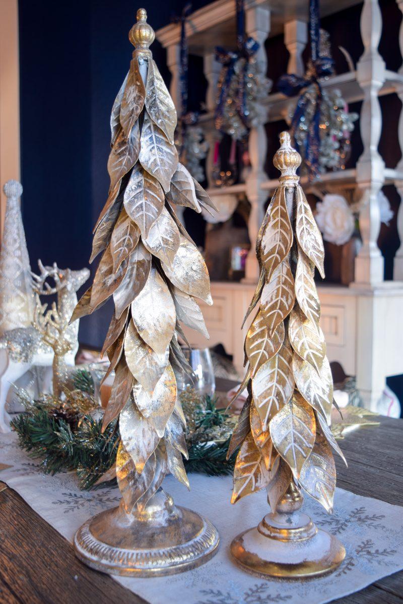 gold christmas tree tabletop decor