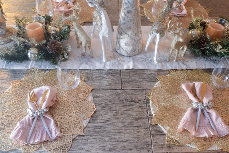silver and gold christmas table ideas