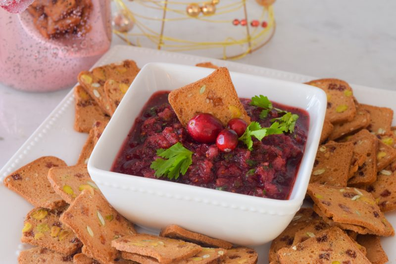 cute christmas appetizers cranberry salsa