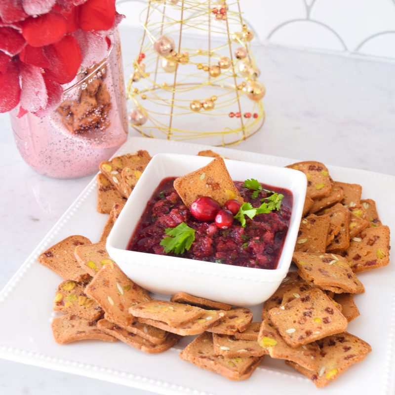 fresh cranberry salsa christmas dips and appetizers