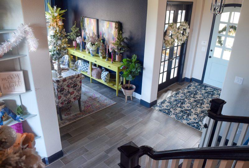 foyer and entryway christmas decor