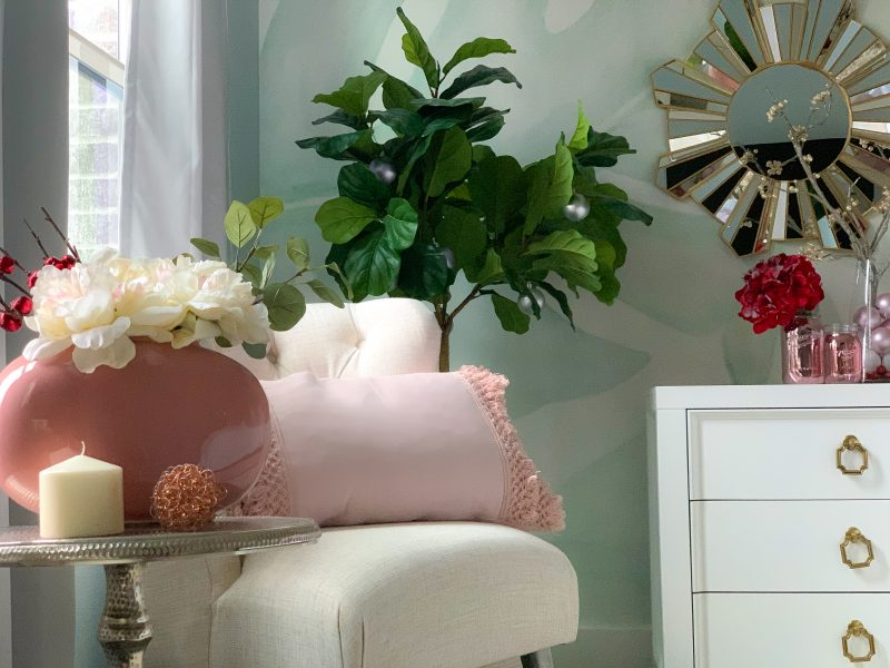master bedroom decor blush pink and red christmas