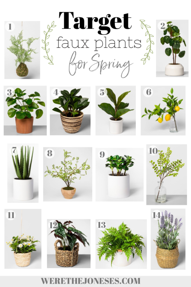 artificial plants and flowers from target for spring decor
