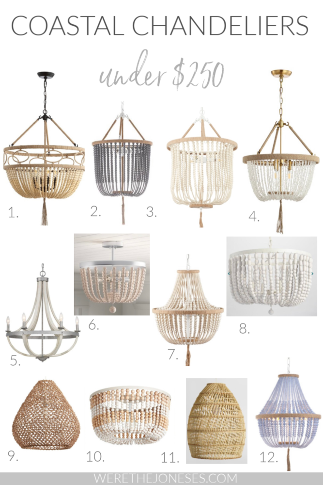 9 Coastal Chandeliers Under $9   Affordable Lighting For Your ...