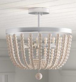 "Bay Isle Home Tilden 3 - Light 16"" Unique/Statement Bowl Semi Flush Mount - Seaside Style Lighting"