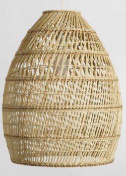 World Market Basketweave Bamboo Pendant Shade - beach housependantlighting