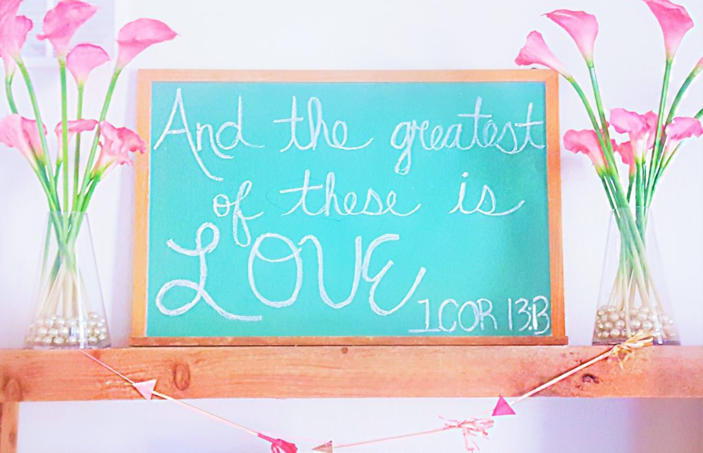 Valentine's Day Decor Chalkboard