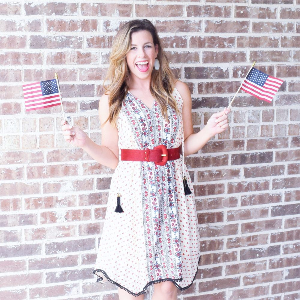 mom style monday red white and blue