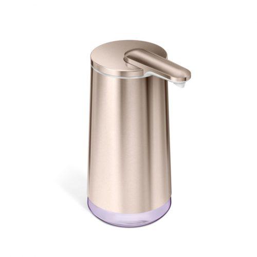 simple human foam cartridge sensor pump rose gold