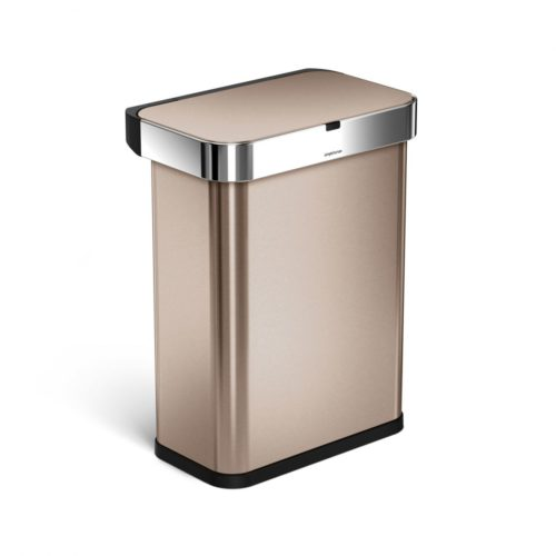 simple human sensor can with voice control rose gold