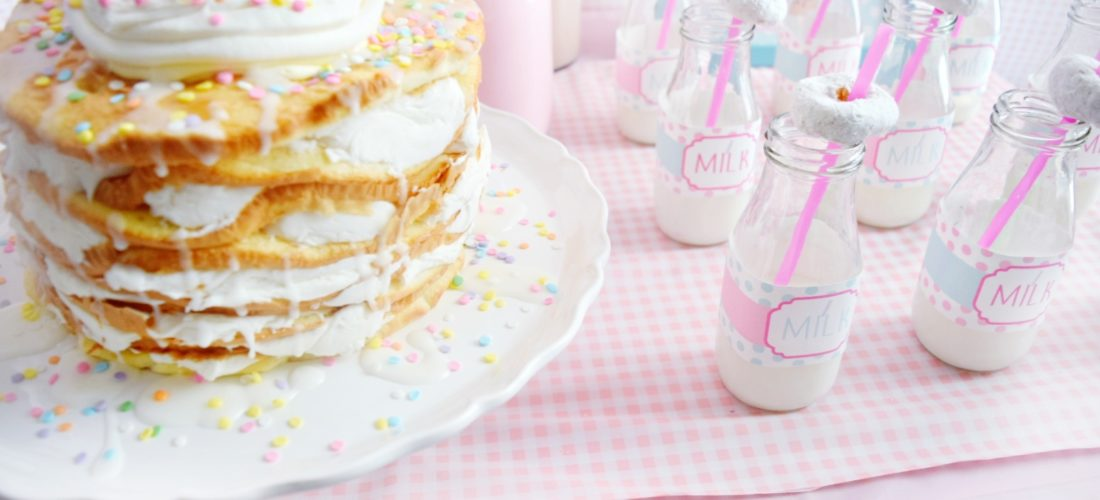 pancake and pajamas birthday party pancake birthday cake preppy pink birthday party