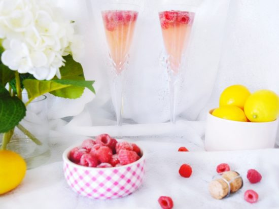 Best. Mimosas. Ever. Perfect for Mother's Day Brunch Sparkling Lemon Raspberry Mimosa Recipe What to make for Mother's Day Best Brunch Recipes Mouth Watering Mimosa Recipes Raspberry Lemon Champagne Cocktail Easy Three Ingredient Mimosas