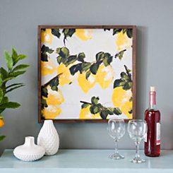 Lemon Square Framed Canvas Art Print