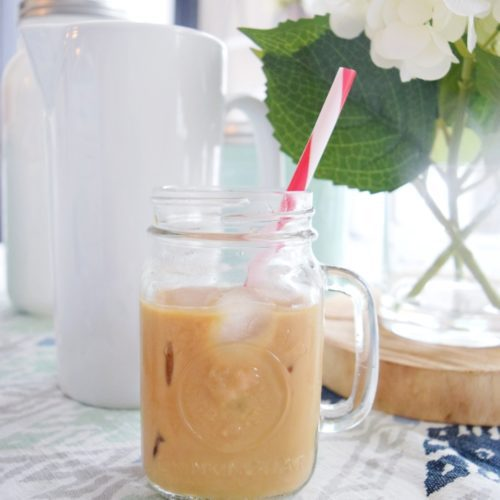The Best Skinny Iced Coffee Healthy Iced Latte Recipe Make a Skinny Iced Coffee At Home Less Sugar More Protein
