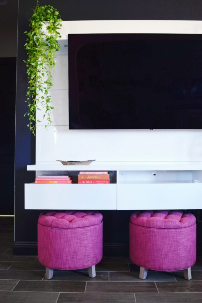 How to Design an Entertainment Center around your flatscreen TV decorating your living room so the TV is not the main focus werethejoneses.com