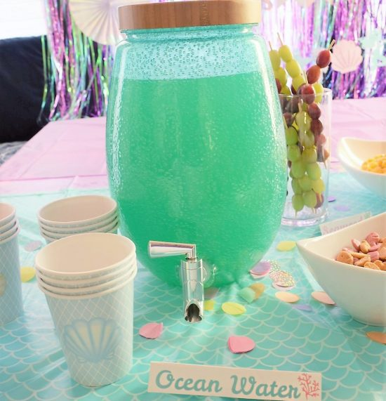 Ocean Water Drink Recipe for Mermaid Themed Birthday Party