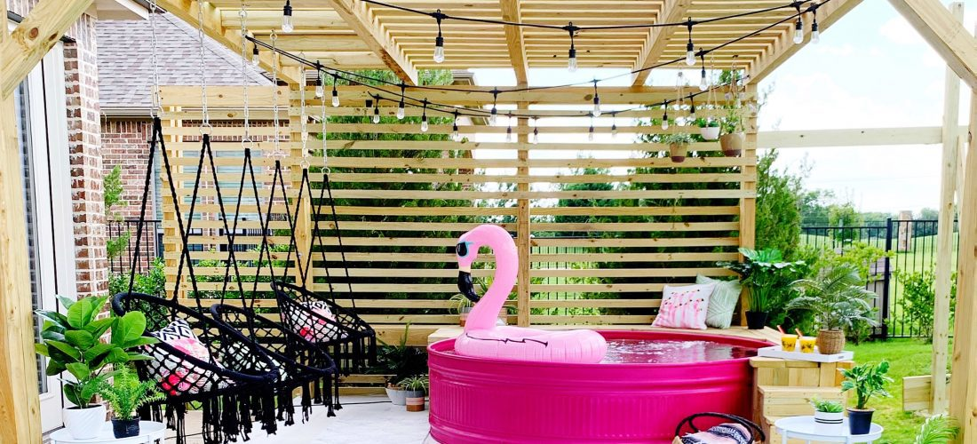How to Build A Stock Tank Pool - And Spray Paint Pink!
