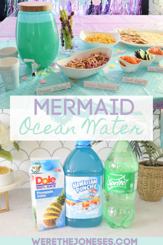 mermaid party punch ocean water drink recipe for birthday party