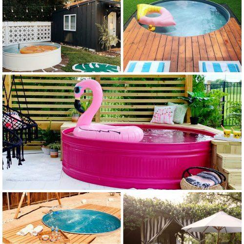 creative stock tank pool designs