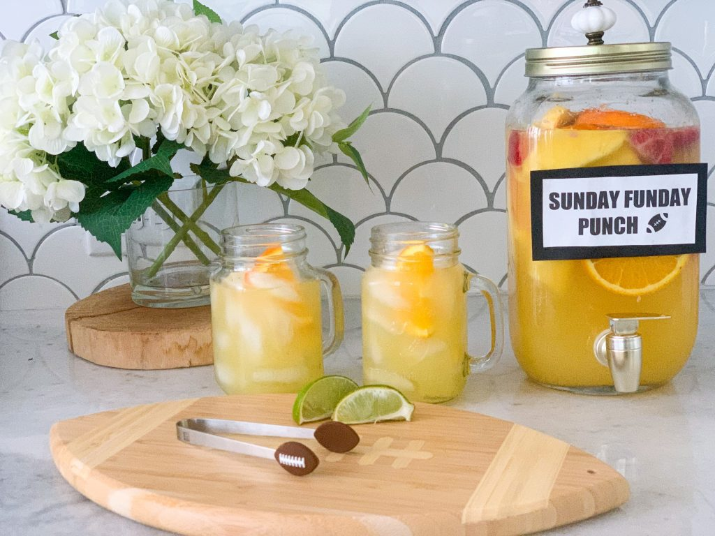football party drinks sunday funday punch recipe