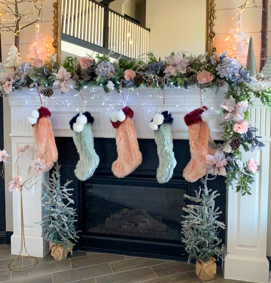 modern elegant christmas mantel decor ideas